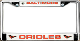 Baltimore Orioles License Plate Frame Chrome