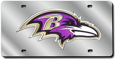 Baltimore Ravens License Plate Laser Cut Silver