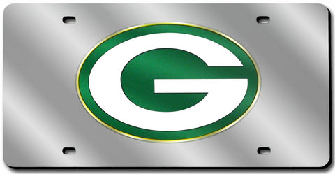 Green Bay Packers License Plate Laser Cut Silver
