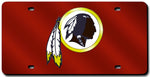 Washington Redskins License Plate Laser Cut Red