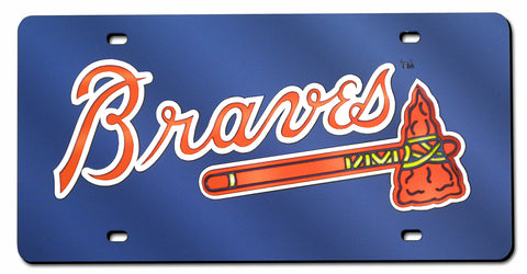 Atlanta Braves License Plate Laser Cut Navy