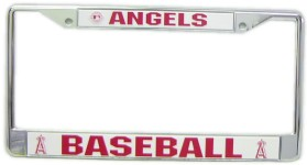Los Angeles Angels License Plate Frame Chrome