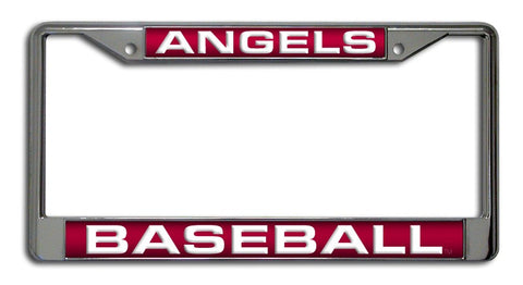 Los Angeles Angels License Plate Frame Laser Cut Chrome