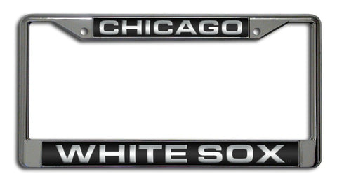 Chicago White Sox License Plate Frame Laser Cut Chrome