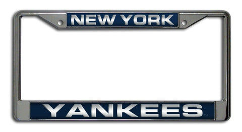 New York Yankees License Plate Frame Laser Cut Chrome