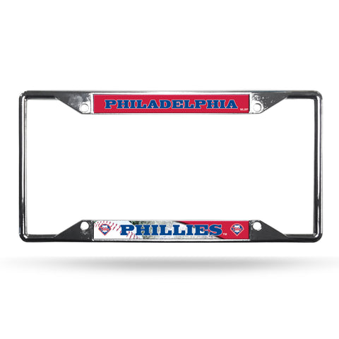 Philadelphia Phillies License Plate Frame Chrome EZ View