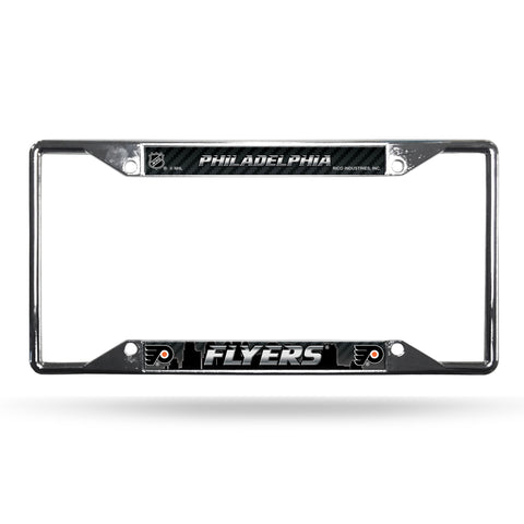 Philadelphia Flyers License Plate Frame Chrome EZ View