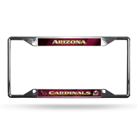 Arizona Cardinals License Plate Frame Chrome EZ View