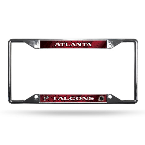 Atlanta Falcons License Plate Frame Chrome EZ View