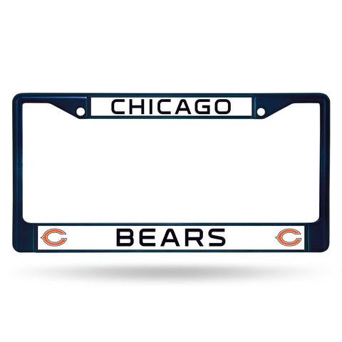 Chicago Bears License Plate Frame Metal Navy