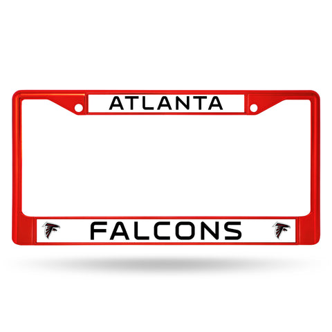 Atlanta Falcons License Plate Frame Metal Red
