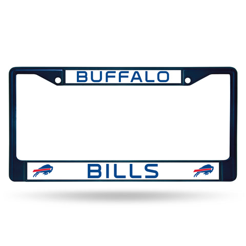 Buffalo Bills License Plate Frame Metal Navy
