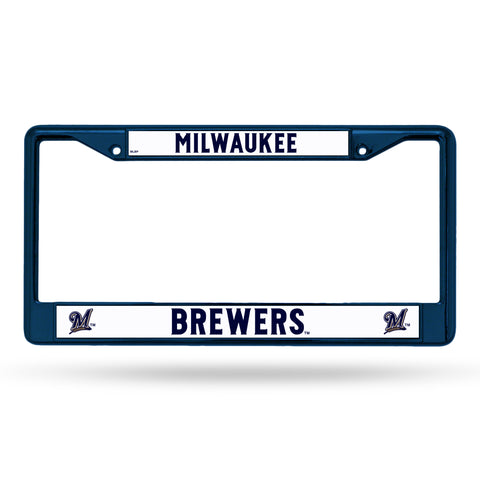Milwaukee Brewers License Plate Frame Metal Navy