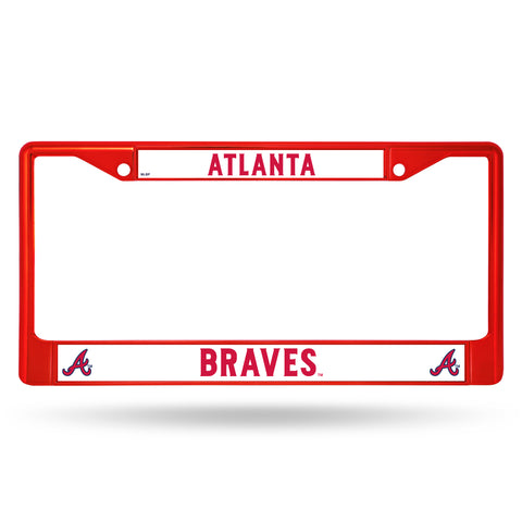 Atlanta Braves License Plate Frame Metal Red