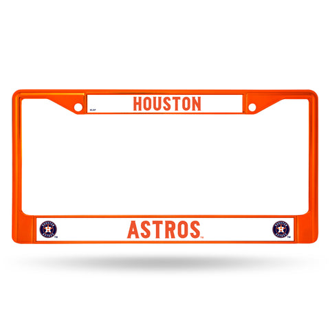 Houston Astros License Plate Frame Metal Orange