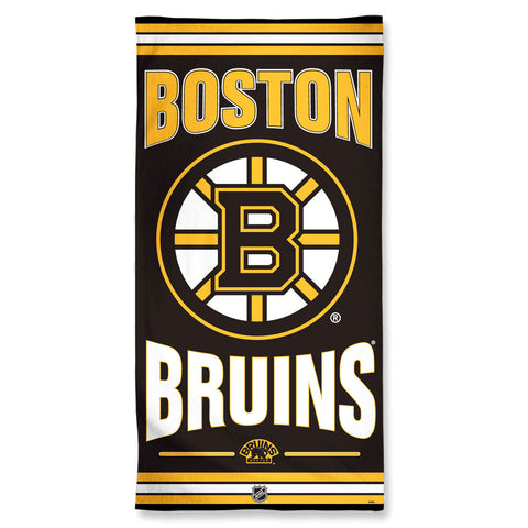 Boston Bruins Towel 30x60 Beach Style