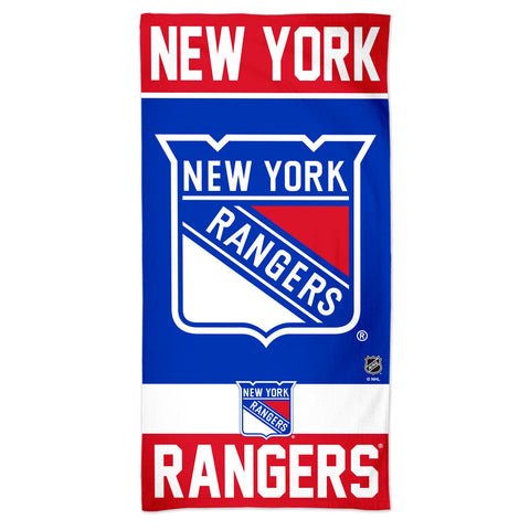 New York Rangers Towel 30x60 Beach Style
