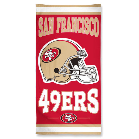 San Francisco 49ers Towel 30x60 Beach Style