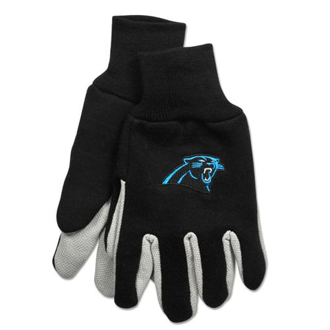 Carolina Panthers Two Tone Adult Size Gloves
