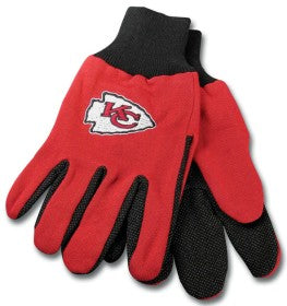 Kansas City Chiefs Two Tone Adult Size Gloves