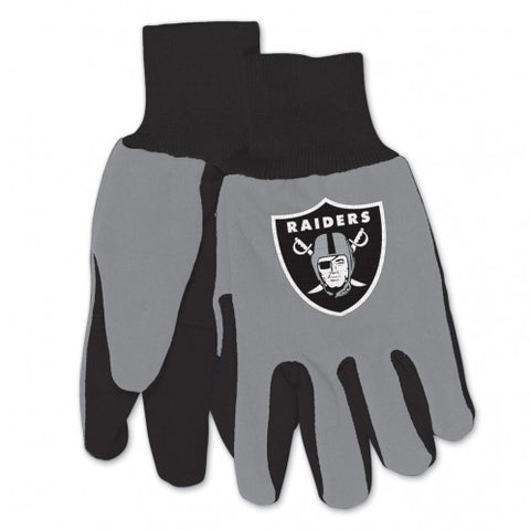 Oakland Raiders Two Tone Adult Size Gloves