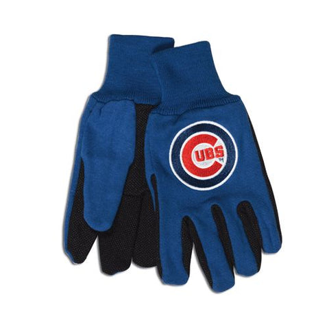 Chicago Cubs Two Tone Gloves - Adult Size
