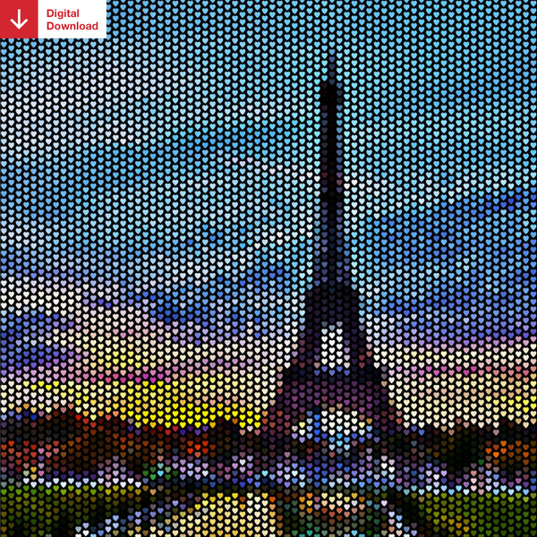 Eiffel Tower Heartillism Shareable Image