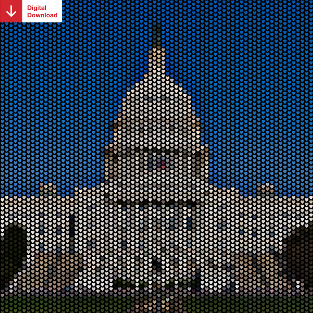 Capitol Building Heartillism Shareable Image