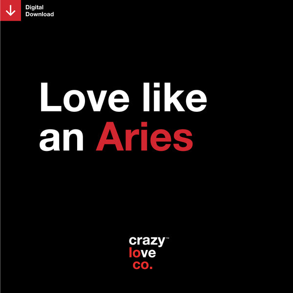 Love Like an Aries Shareable Image