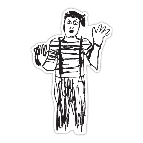 Mime Sticker