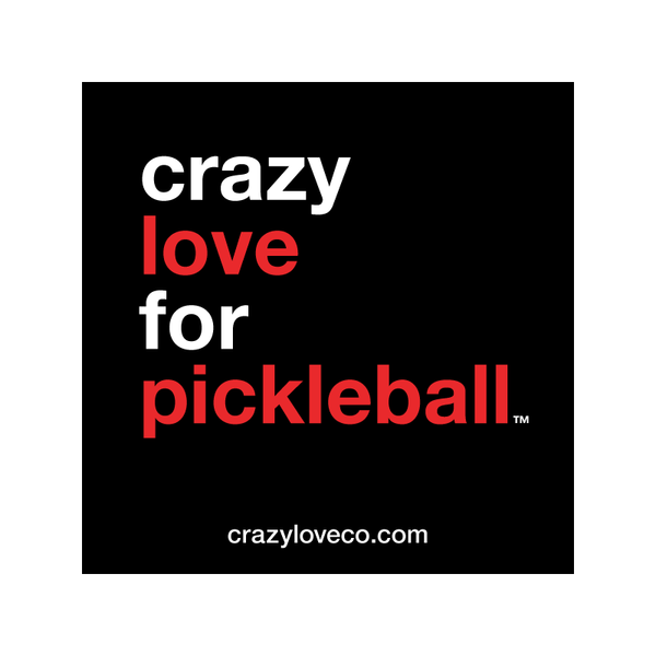 Crazy Love for Pickleball Sticker