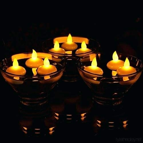 LED Decorative Flameless Floating Candles(12 Pieces Set) - Festival & Celebration Candles