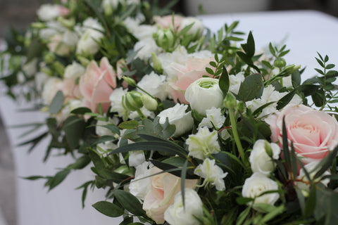 News the flower shop bristol decorations a huge congratulations to sophie and craig who got married last weekend at tortworth court sophie wanted the flowers to be in pale pinks blush and white junglespirit Images