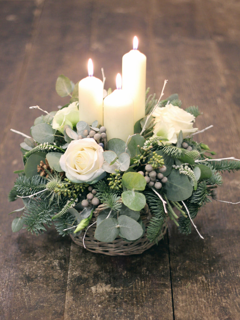 Festive Candle Table Decoration Stunning Christmas Centre Piece