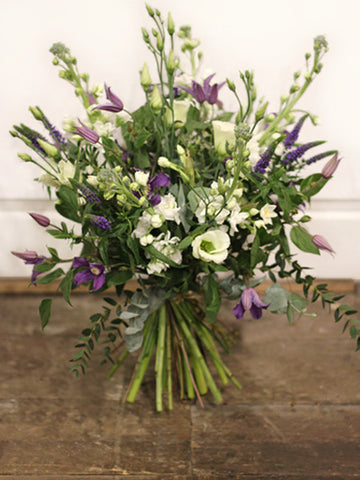 English Delight - Wild English Flowers with Scented Freesias and flowing Clematis