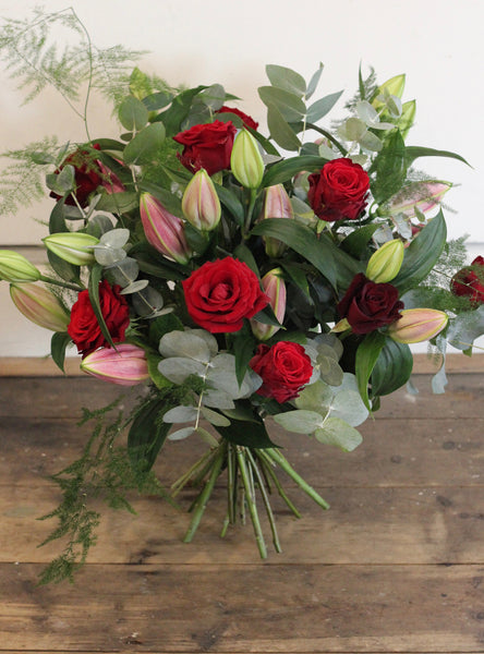 Heaven Scented -  Luxurious scented lilies and sumptuous red roses