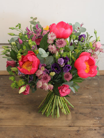 Summer Gems - Bright summer peonies, clematis, veronica and lovely, zesty summer blooms
