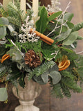 Festive Stone Urn Table Decoration
