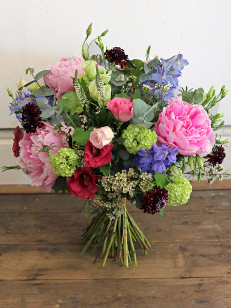 Peony Garden - A beautiful bouquet packed with wild garden flowers and Summer peonies.