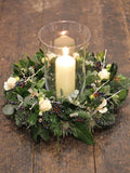 Fresh table Wreath & Storm Lantern