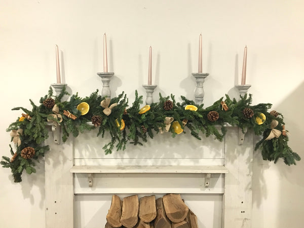 Decorated Christmas Garland ~ 6ft