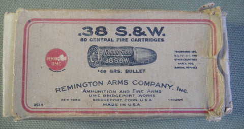 .38 S&W Central Fire Cartridges box