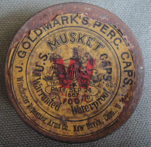 J. Goldmark's Percussion Caps, U.S. Musket caps, Winchester Repeating Arms