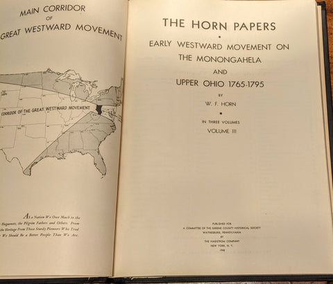 Horn Papers Vol. III -- 1700s Maps of Land Patents in Greene, Washington, and Fayette Counties, Pennsylvania