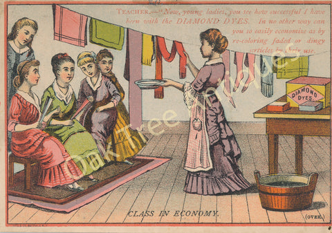 Victorian Trade Card - Diamond Dyes - Chagrin Falls, Ohio