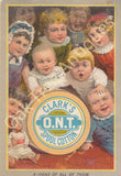 Victorian Trade Card - Clark's O.N.T. Spool Cotton - A-Head of All of Them