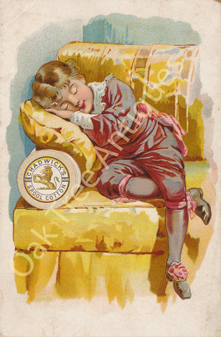 Victorian Trade Card - Chadwick's Spool Cotton - Sleeping Boy