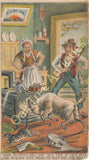 Victorian Trade Card - Rising Sun Stove Polish - Goat in Mrs. Murphy's Kitchen