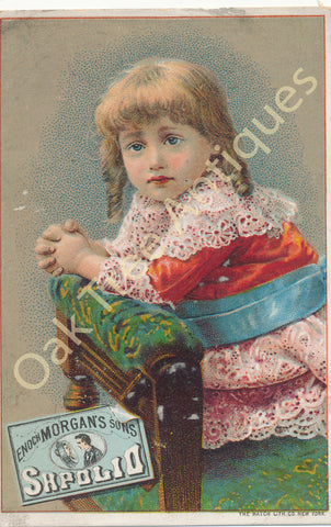 Victorian Trade Card - Enoch Morgan's Sons Sapolio - Girl on Chair