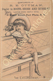 Victorian Trade Card - The Excursionist - Ottman Boots and Shoes - Fort Plain, NY